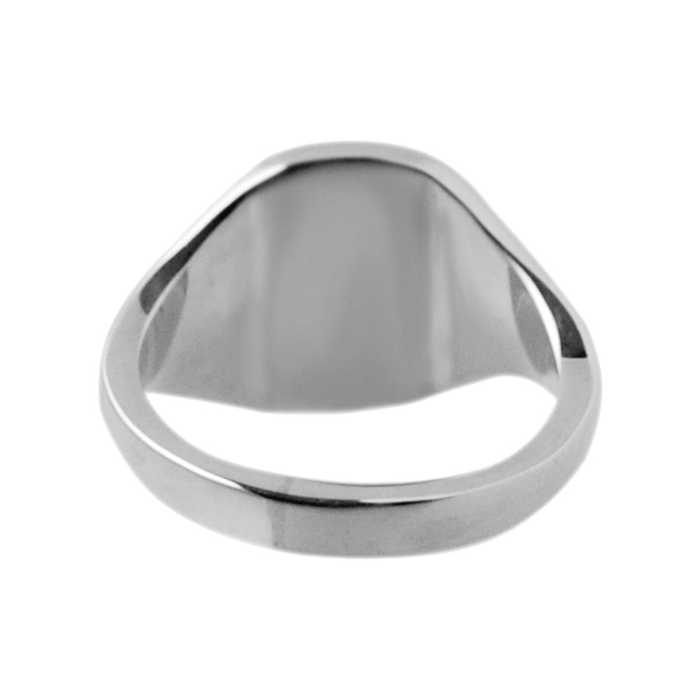 Silver 12 x 10mm Cushion Signet Ring