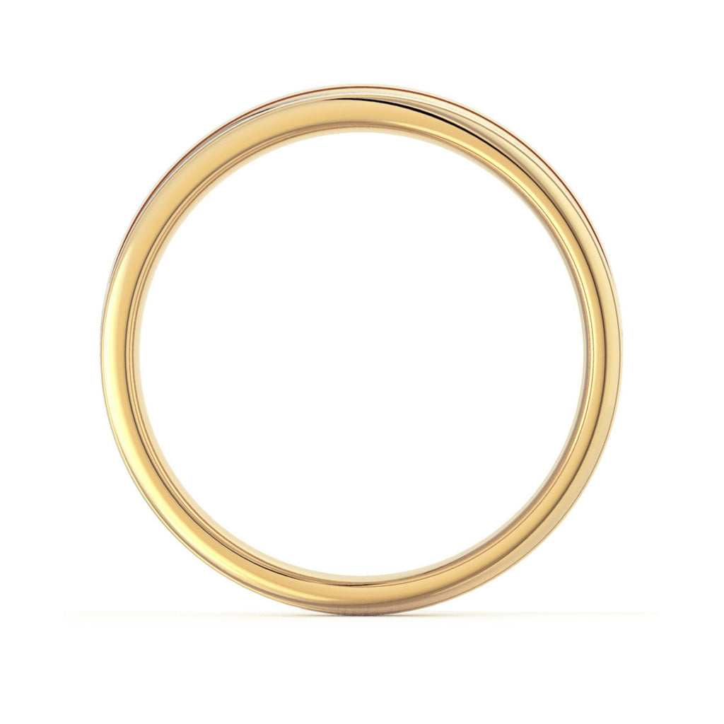 Two Tone Gold Classic Court Wedding Ring