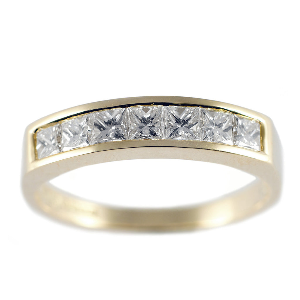 Channel Set 0.75ct Diamond Gold Half Eternity Ring