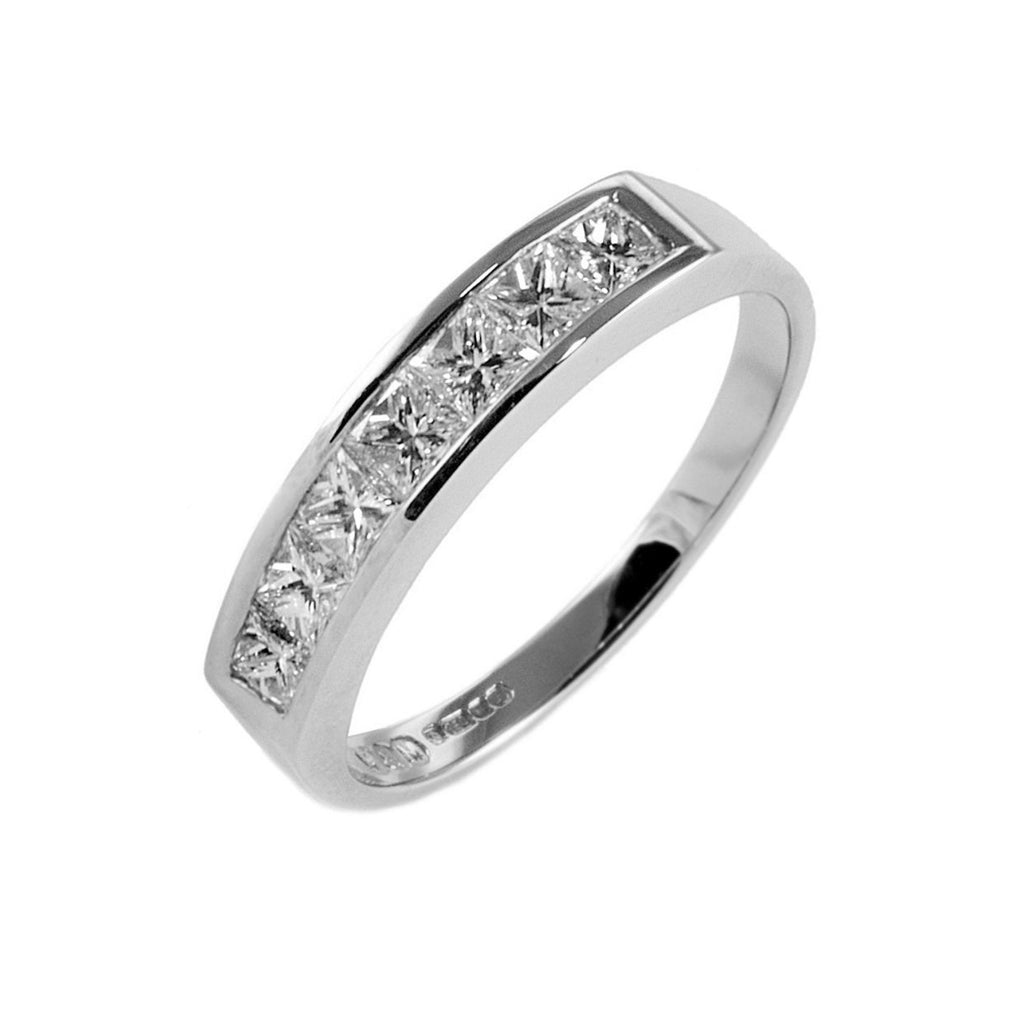 Channel Set 0.75ct Diamond Half Eternity Ring