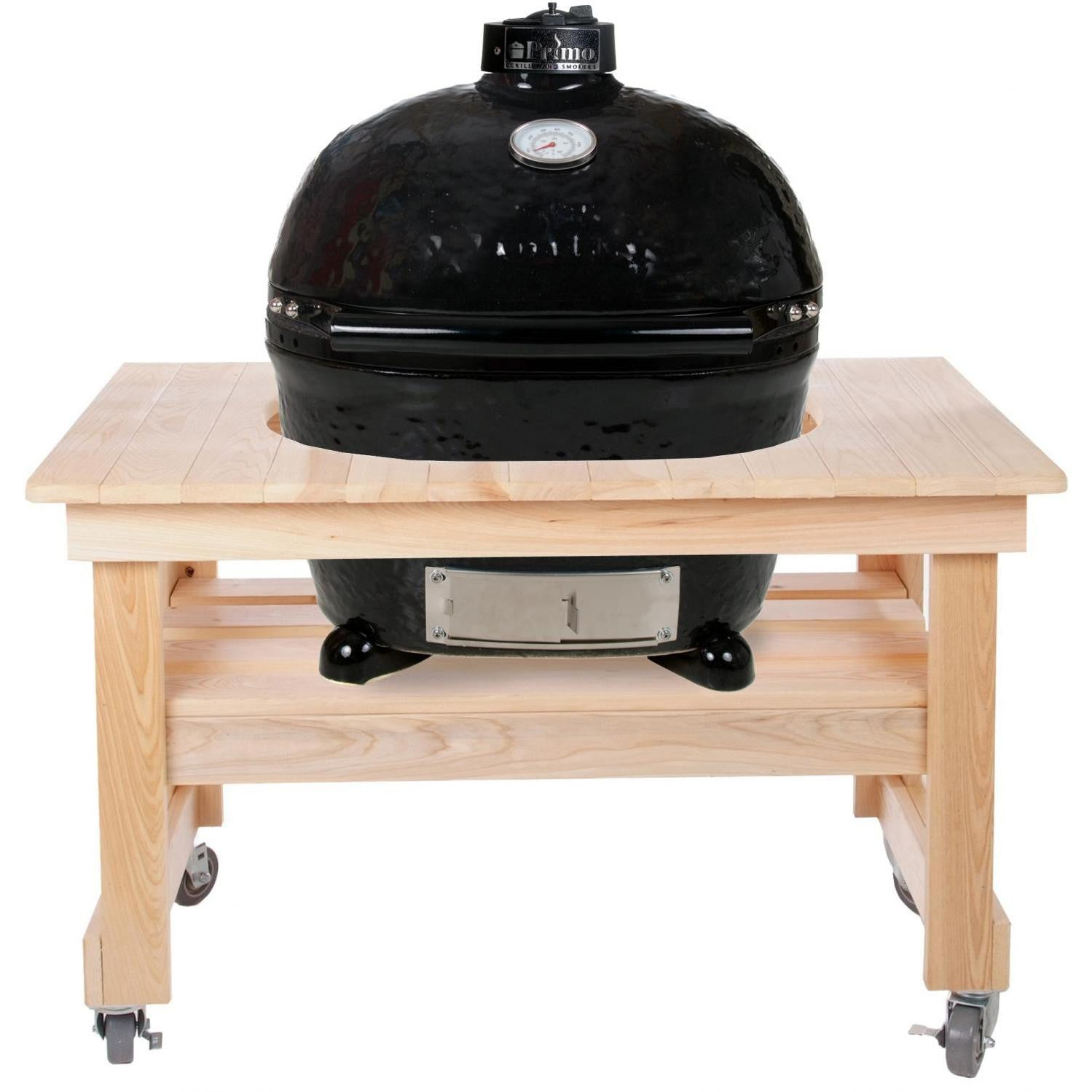 primo ceramic charcoal kamado grill oval xl 400 w compact