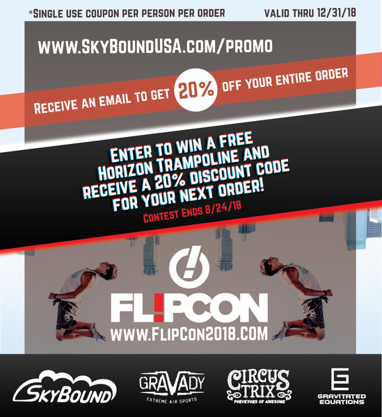 SkyBound USA sponsors FlipCon 2018 hosted by DEFY & CircusTrix