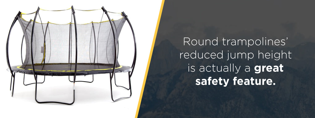 What trampoline shape is the safest