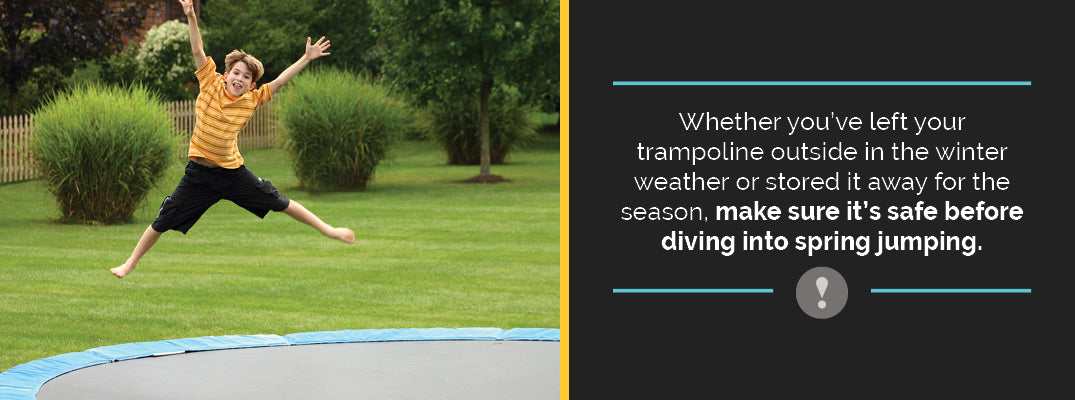 how to maintain a trampoline in the spring