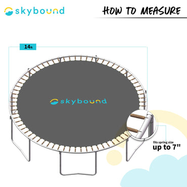"14 Foot Green Replacement Trampoline Pad (Fits up to 7"" Springs)"