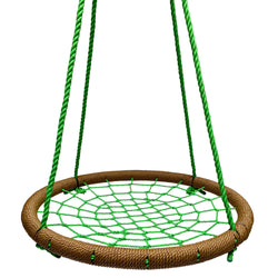 Round Tree Swing Nets - Buy 1 / Get 1 NAVY/RED FREE! Promo Code: FREESWING - Brown & Green - SkyBound USA