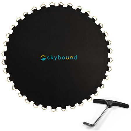 Replacement Mat for 15ft Trampolines - 159in / 96 V-Rings / 7.0in Springs