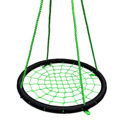 Round Nylon Tree Net Swing in Black & Green