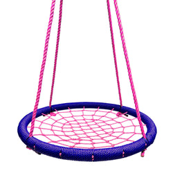 Round Tree Swing Nets in Navy & Pink