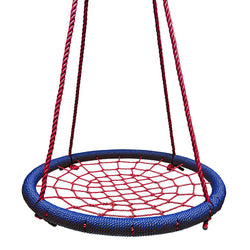 Round Tree Swing Nets in Navy & Red