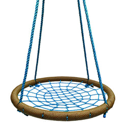 Round Tree Swing Nets  - Buy 1 / Get 1 NAVY/RED FREE! Promo Code: FREESWING - Tan & Blue - SkyBound USA
