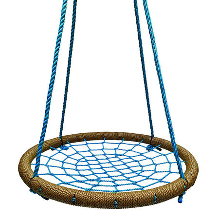 Round Tree Swing Nets  - Tan & Blue - SkyBound USA