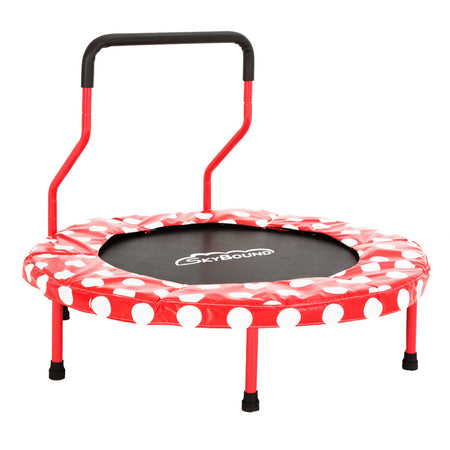 Mini 4 Children's Trampoline - Red Polka Dots - SkyBound USA
