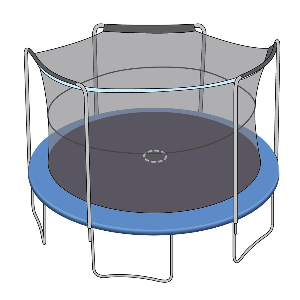 Enclosure Net for 14ft Trampolines - Fits 3 Arch Poles