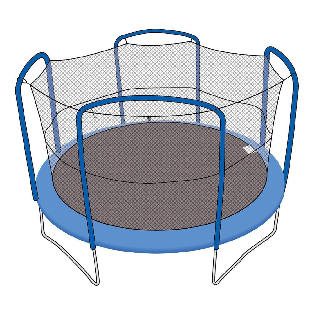 Enclosure Net for 12ft Trampolines - Fits 4 Arch Poles