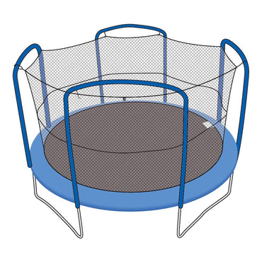 Enclosure Net for 12ft Trampolines - Fits 4 Arch Poles - SkyBound USA