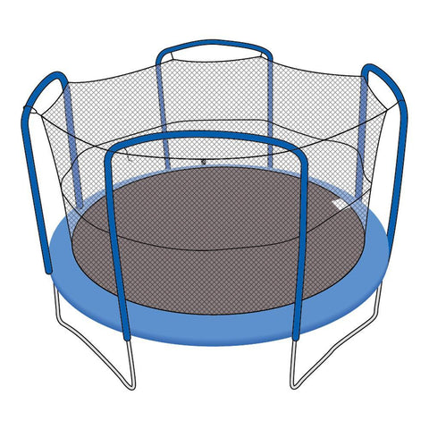 Enclosure Net for 15ft Trampolines - Fits 4 Arch Poles