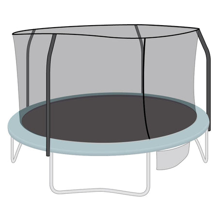 Enclosure Net for 15ft Trampolines - Fits 4 Straight-Curved Poles w/ Top Ring - SkyBound USA