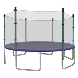 Enclosure Net for 15ft Trampolines - Fits 6 Straight Poles