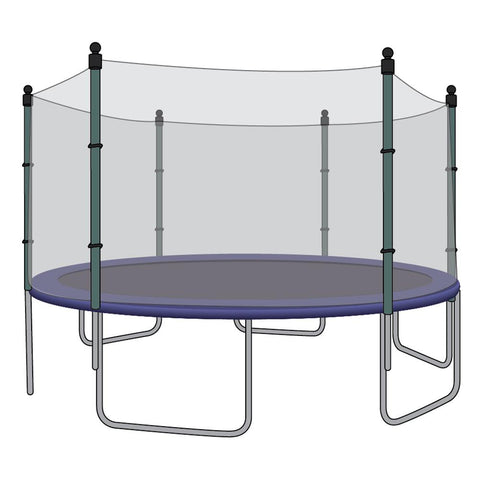 Enclosure Net for 14ft Trampolines - Fits 6 Straight Poles