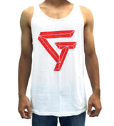 GT Logo Athlete Tank - White - SkyBound USA