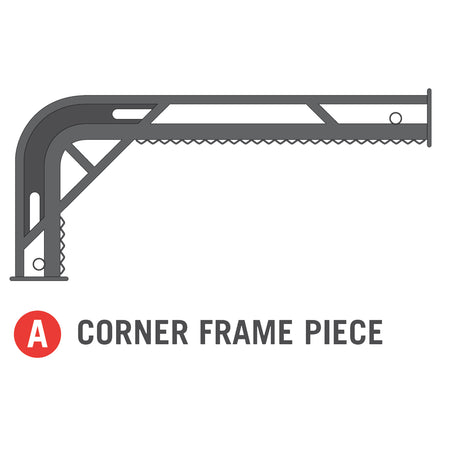 Corner Frame Piece for 11x18 foot Horizon Trampoline (Part A)
