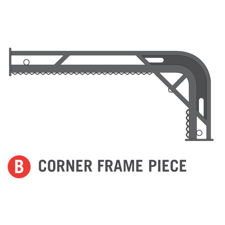 Corner Frame Piece for 11x18 foot Horizon Trampoline (Part B)