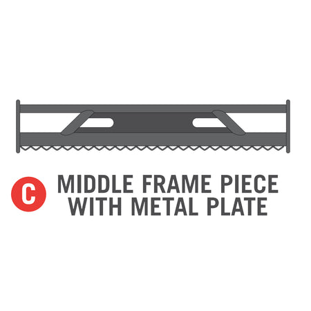 Middle Frame Piece W/Metal Plate for 11x16 foot Horizon Trampoline (Part C)