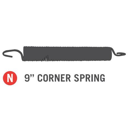 "9"" Corner Spring for 11x18 foot Horizon Trampoline (Part N)"