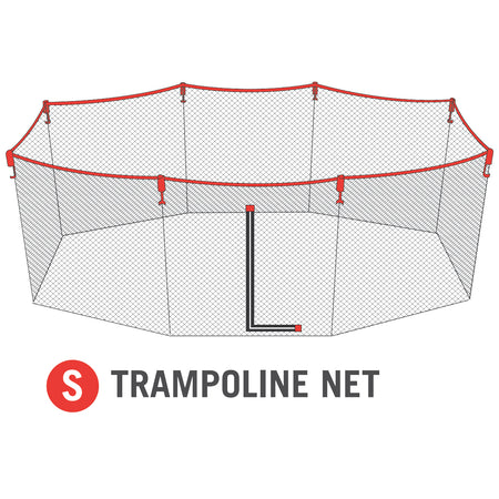 Net for 11x18 foot Horizon Trampoline (Part S)