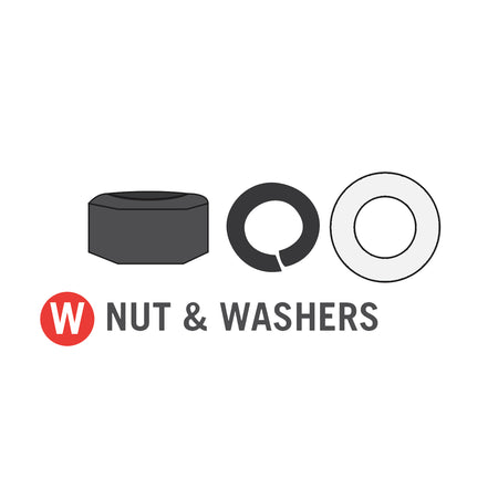 Nut & Washers for 11x18 foot Horizon Trampoline (Part W)