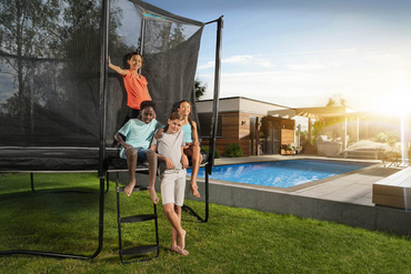 SkyBound Explorer 15ft Rectangle Trampoline with Safety Enclosure System
