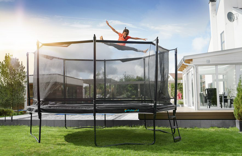 SkyBound Explorer 12ft Round Trampoline with Safety Enclosure System