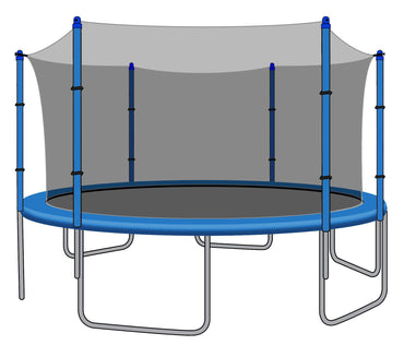 Enclosure Net for 14ft Trampolines - Fits 6 Straight Poles (Using Bolted Pole Caps) - SkyBound USA