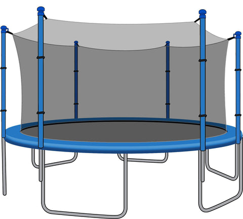 SkyBound Enclosure Net for 14ft Trampoline - Fits 6 Straight Poles