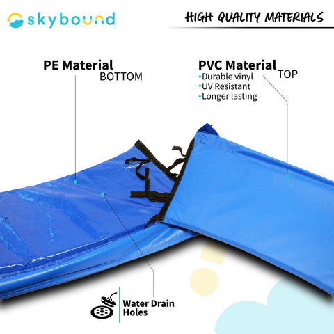 Two-Piece Easy Install Replacement Pad for 12ft Trampolines - Blue