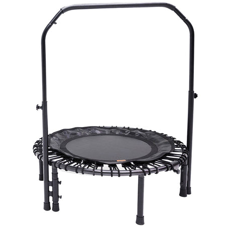 "39"" Nimbus Folding Fitness Rebounder Trampoline with Handlebar and Carrying Case - SkyBound USA"