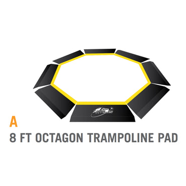 Pad for 8 foot Atmos Trampoline - Black (Part A)