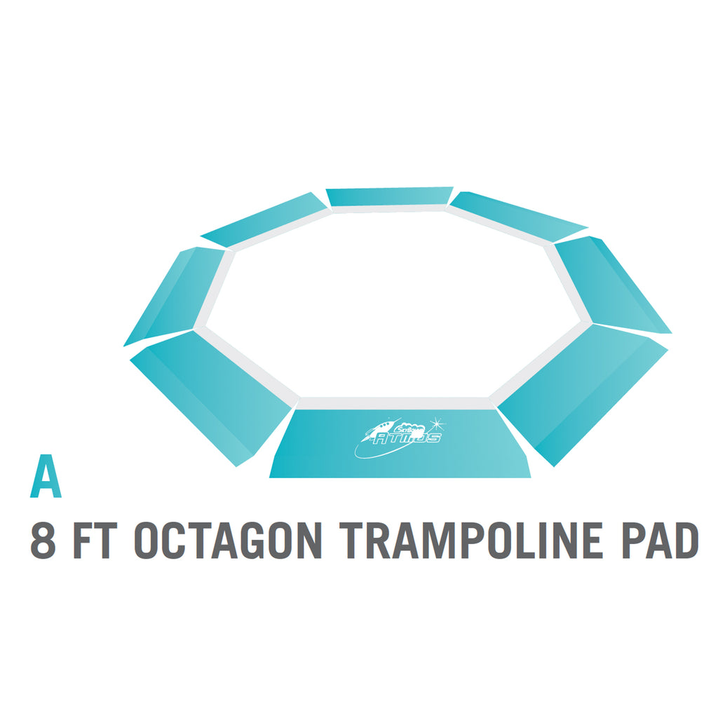 Pad for 8 foot Atmos Trampoline - Blue (Part A)