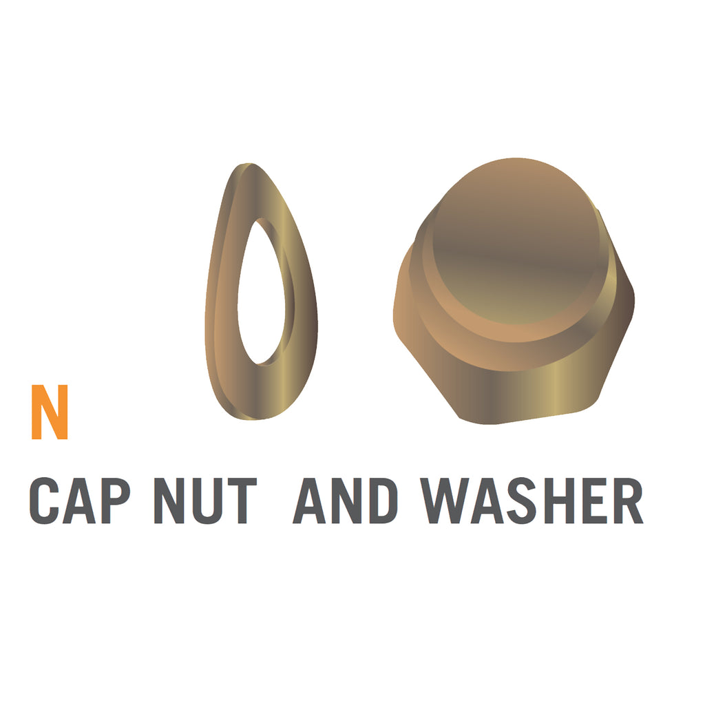 Cap Nut & Washer for 8 foot Atmos Trampoline (Part N)