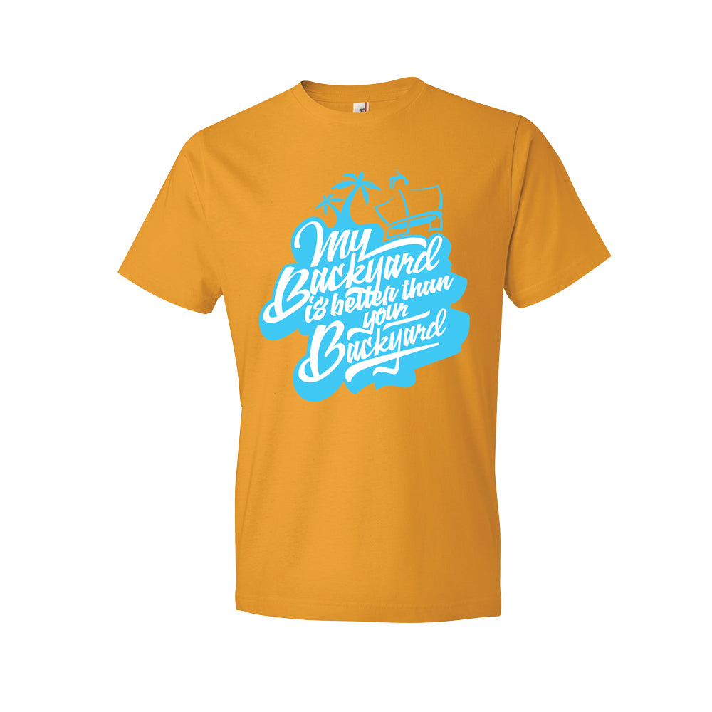 "SkyBound ""My Backyard is Better Than Your Backyard"" Orange T-Shirt - SkyBound USA"