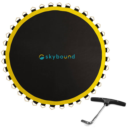 Premium Replacement Mat for 14ft Trampolines - 147in / 88 V-Rings / 7.0in Springs