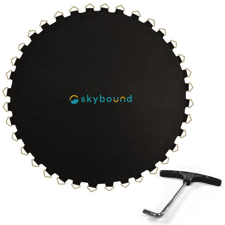 Replacement Mat for 14ft Trampolines - 144in / 96 V-Rings / 8.5in Springs