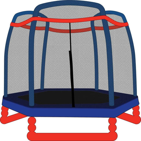 Trampoline Net for 7ft Little Tikes Trampoline - Fits 3 Arch Poles - SkyBound USA