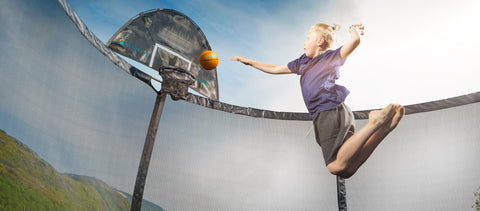 SkyBound Basketball Hoop for Explorer Trampolines