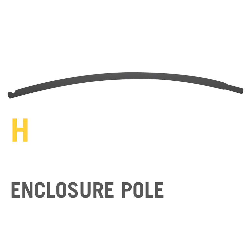 Upper Enclosure Pole for Stratos Trampolines (Part H) V2