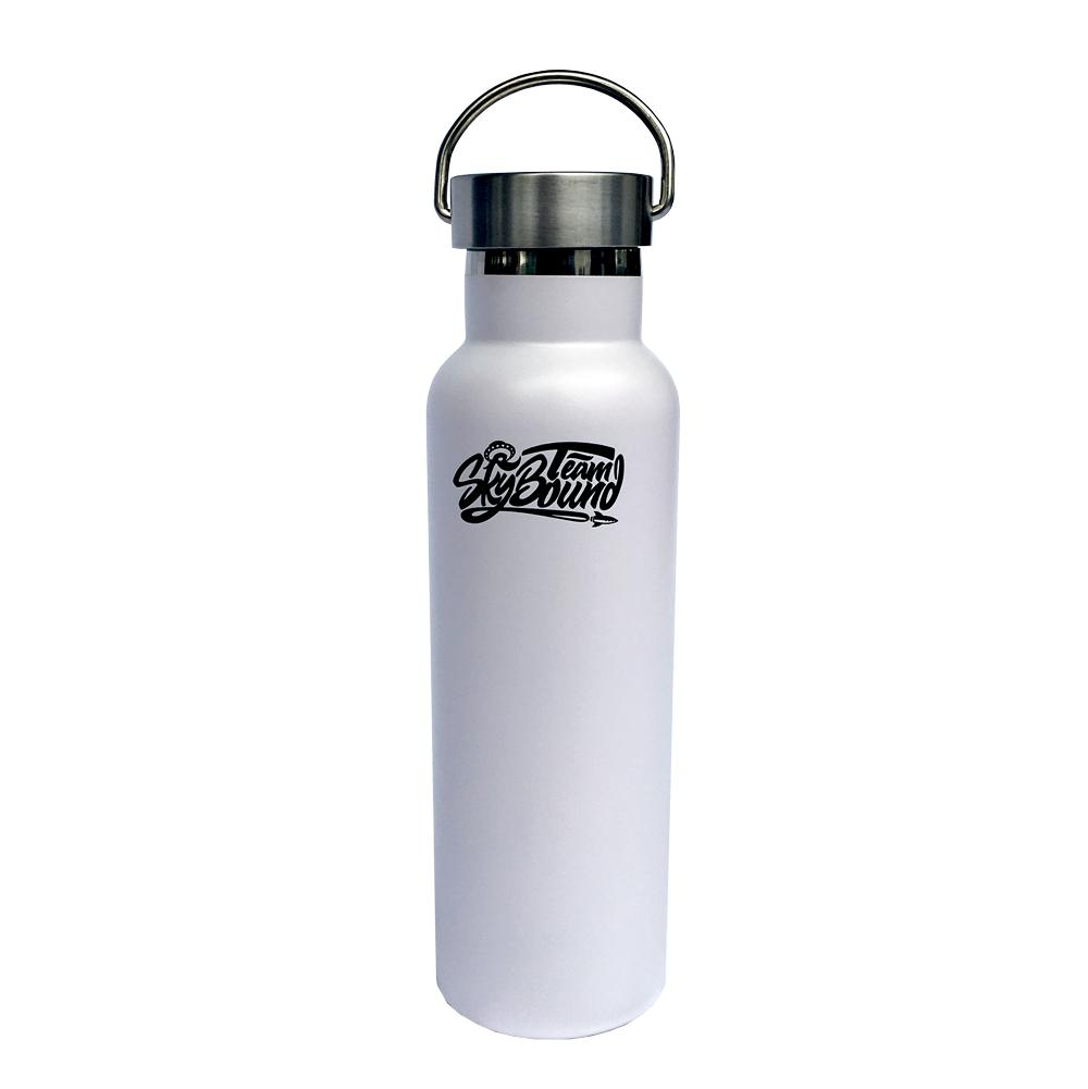 Team SkyBound White Aluminum Bottle with Metal Cap - SkyBound USA