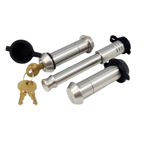 "61618 | 3 Pack Mix, Keyed Alike, (2) Tapered SS Locking Pins (1) SS Hitch Lock (Fits: Blue Ox Towing Products - 7/8"" Off Road Adapters)"