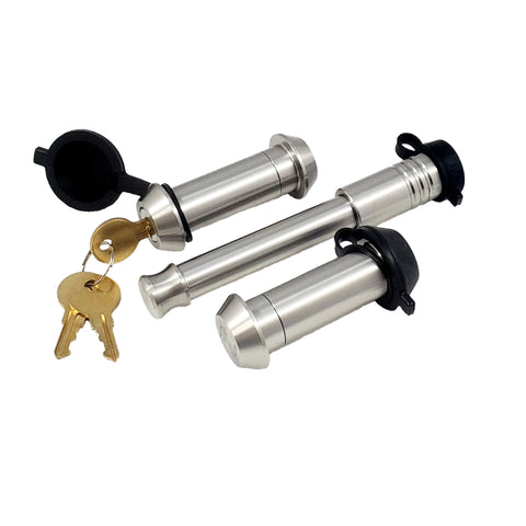 61619 | 3 Pack Mix, Keyed Alike, (2) Tapered SS Locking Pins (1) SS Hitch Lock (Fits: Roadmaster Inc. - Tow Bar Adapters RM-035 & RM-035-1)