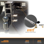"61072 | Stainless Steel Hitch Lk (2"" & 2.5"" Rcvr - Class 3, 4, 5  